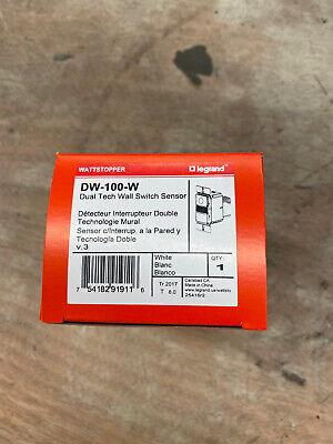 1- Wattstopper Dw-100-w Dual Technology Wall Switch Occupancy Sensor 120277v