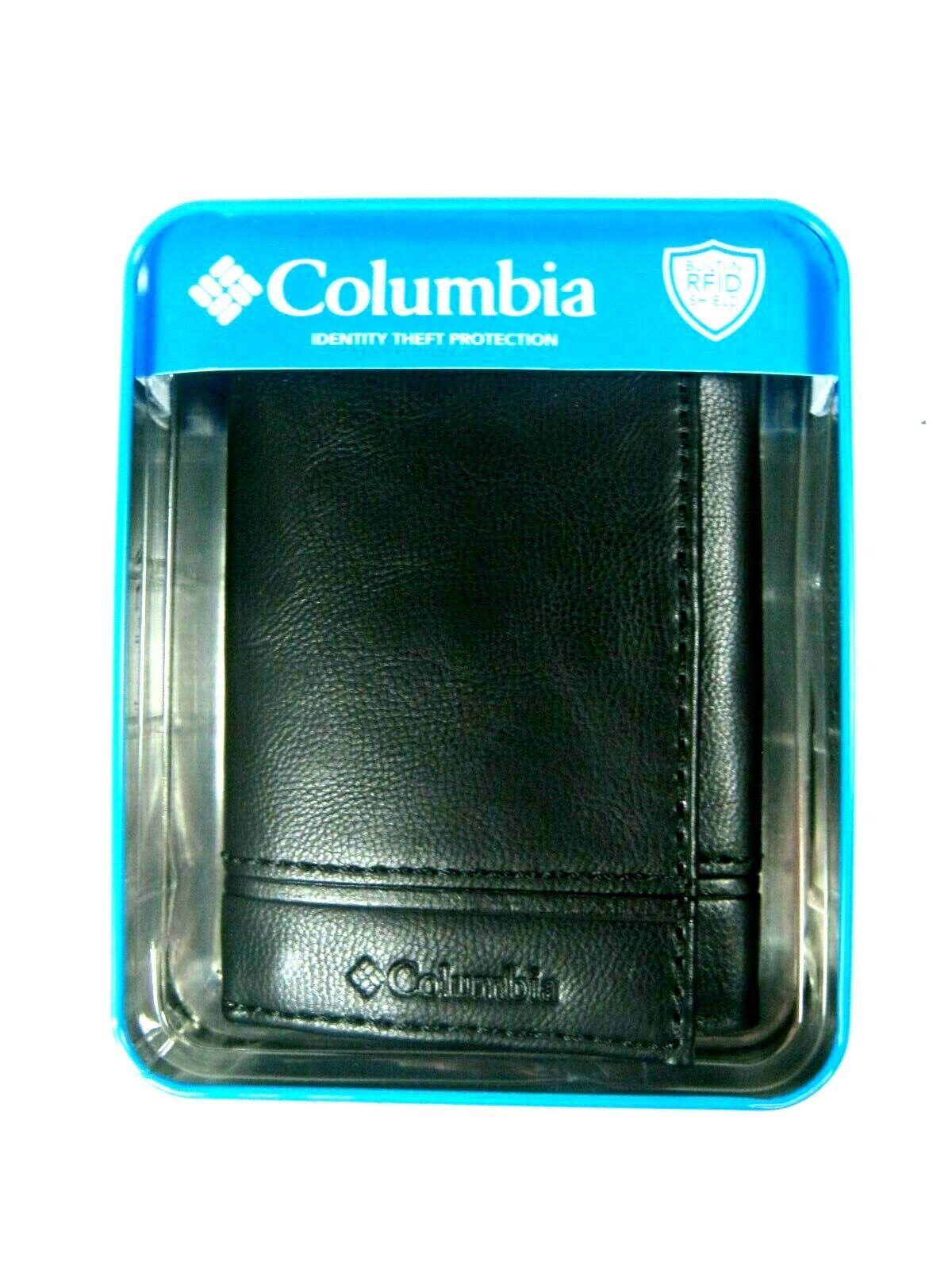 mens trifold security rfid blocking wallet black