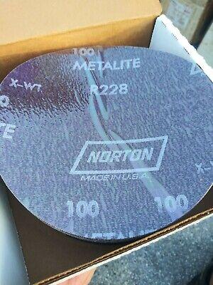 6 Stick Sand Disc 100 Grit Norton 36594 R228 Qty 50
