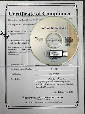 Shimadzu Labsolutons Lcgc With Multi Gc Usb Dongle Software Media Pc