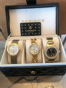 Beautiful set of Akribos watches for 30.00