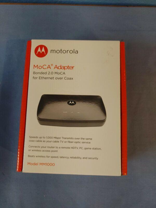 MOTOROLA MOCA Adapter for Ethernet Over Coax New Open Box