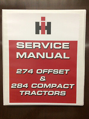 International 274 Offset 284 Compact Tractor Service Manual Shop Manual Overhaul