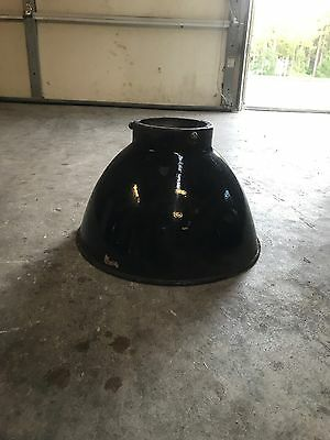 Vintage ceramic gas station lamp shades. (Gas Station Sunglasses)