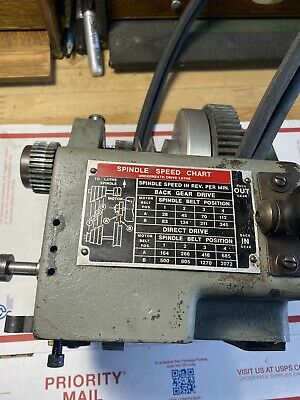 Atlas Craftsman Commercial 12 Lathe Under Drive Headstock With Back Gear