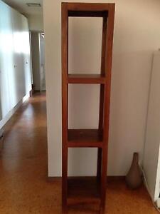 Dark wood tall bookcase Lilli Pilli Sutherland Area Preview