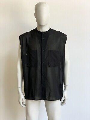 Alexandre Plokhov SS16 Men's Black Sleeveless Cotton Shirt Size S Rick Owens