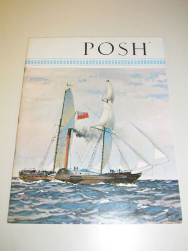 P&O Orient Lines POSH Magazine Peninsular Oriental Steam Navigation 1962