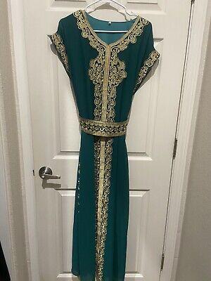 Dubai Moroccan Kattan Dress Abaya Maghribi Thobe Arabic Islamic Jalabiya Hijab
