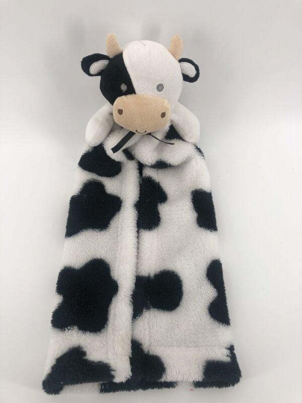 SECURITY Blanket CUTIE PIE Black White COW Bull Plush My 1st Buddy Baby Lovey. Y