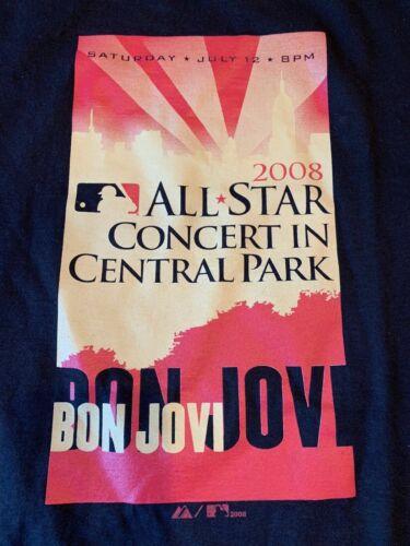NWT 2008 MLB All Star Game Majestic Jon Bon Jovi Central Park Concert T-Shirt M