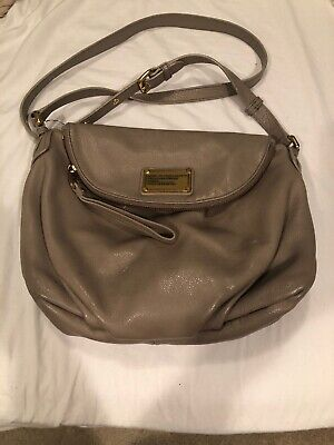 Marc Jacobs Classic Q Natasha Gray Leather Crossbody Bag W Dust Bag