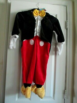 NEW Disney Mickey Mouse Size 2 Toddler Full Body Plush Halloween Costume  - Mickey Mouse Toddler Halloween Costume