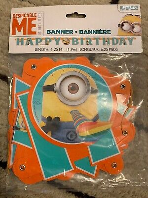 Despicable Me Minions Happy Birthday Letter Banner party