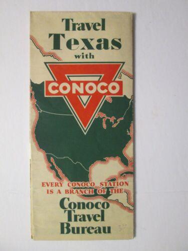 Conoco Road Map of Texas 1936