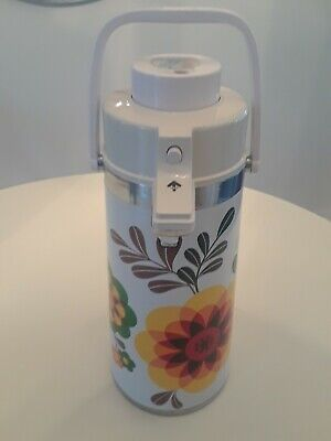 Vintage Thermos Dispenser With Pump Large Flowers