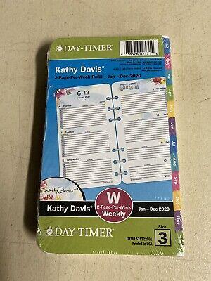 Kathy Davis 2-page-per-week Planner Refill Portable Size -