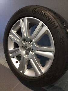 "AUDI A4 B8 17"" GENUINE ALLOY WHEELS AND TYRES Carramar Fairfield Area Preview"