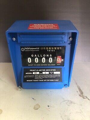 Neptune Meter Register Model 833 Code 0 Warranty Oil Gas Bio Diesel Fuel Petro