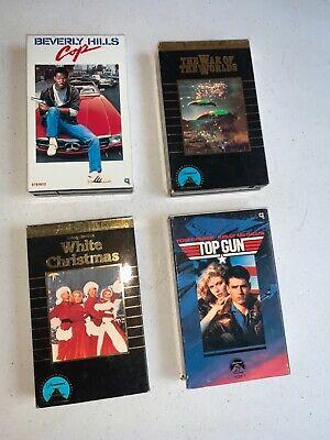 Betamax Movie Lot Beta 4 Tapes Top Gun, Beverly Hills cop, War of the Worlds ++