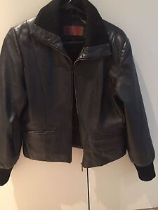 Women's black leather jacket large size Macquarie Park Ryde Area Preview