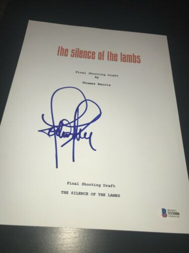 JODIE FOSTER SIGNED AUTOGRAPH MOVIE SCRIPT SILENCE OF THE LAMBS BECKETT BAS D