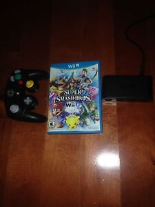Smash Bros. for Wii U w/ GameCube controller and adapter