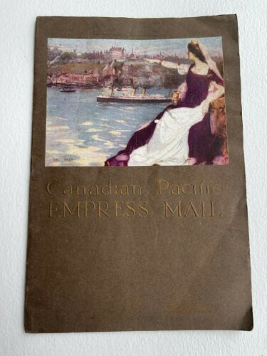 ONE 1912 brochure/diary EMPRESS OF IRELAND ONBOARD DAILY MAIL CANADA