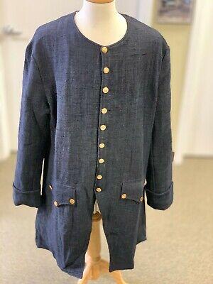 Dark Blue Jean Frock Coat - Man's 40