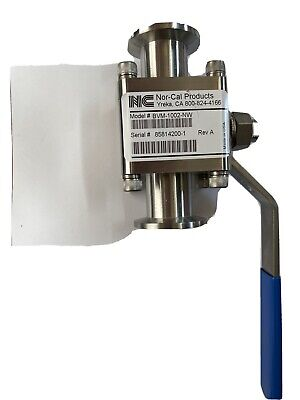 Nor-cal Bvm-1002-nw 1 Ported Manual Ball Valve 0.85 Id Nw-25 Free Shipping