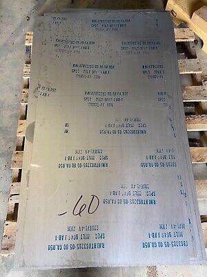 Titanium Plate Sheet .050 Thick 48in X 24in 6al-4v Grade 5