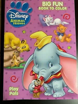 DISNEY DUMBO ANIMAL FRIENDS PLAY PALS COLORING BOOK BIG FUN BOOK TO COLOR NEW! - Animals To Color