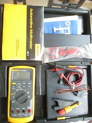 Fluke 88 V Automotive Meter With Manual Case Cables Etc.