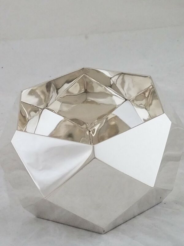 Sterling TIFFANY & CO Multi Faceted Modernist Bowl GEOMETRIC design Portugal