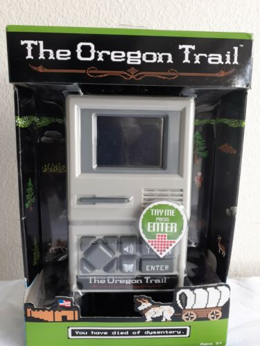Computer Games - The Oregon Trail Classic Computer Handheld Game (New In Box) Basic Fun!