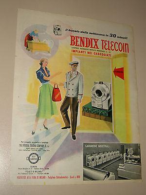 BENDIX TELECOM LAVATRICE INDUSTRIAL=ANNI '50=PUBBLICITA'=ADVERTISING=WERBUNG=259