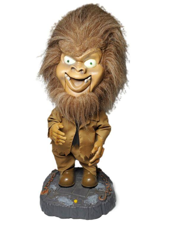 """2001 Gemmy Big Head Singing Dancing Werewolf Indoor Halloween Decor Wolf Man 18"""""""