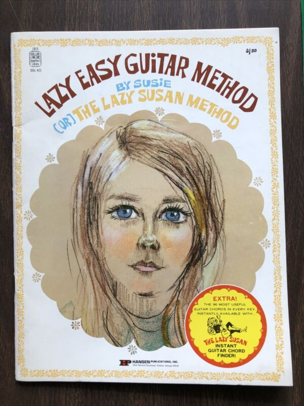 VTG Lazy Easy Guitar Method by Lazy Susan with Instant Guitar Chord Finder NICE