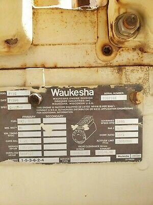 Used Waukesha Natural Gas Engine Model F11g Sn 5367166