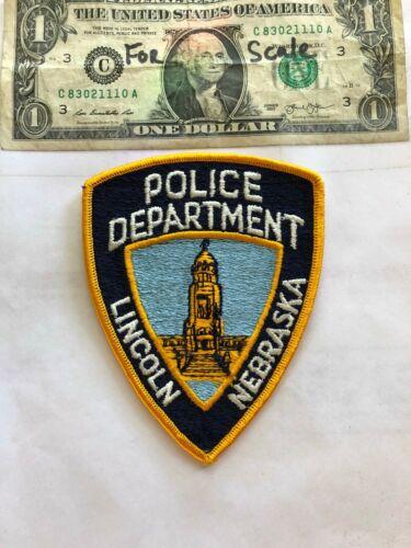 Lincoln Nebraska Police Patch Un-sewn in great shape