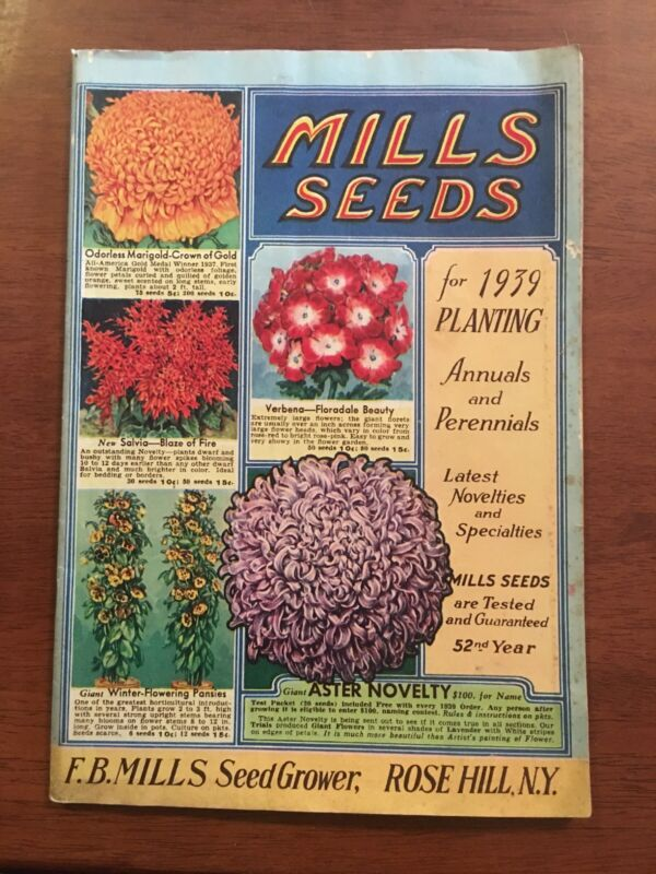1939 Mills Seeds Catalog