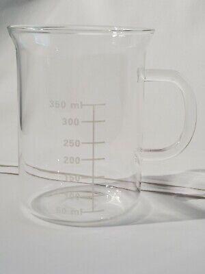 Laboratory Like Beaker Mug Glass With Handle-made In China