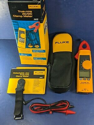 New Fluke 365 Trms Acdc Clamp Meter Original Box See Details
