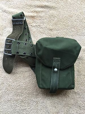 vintage webbing side pouch  army surplus mod military fishing hunting shooting.