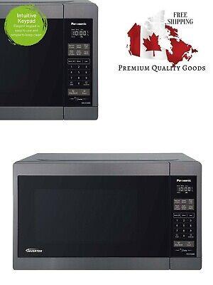 Panasonic NNSC688S Mid-Size 1200W Inverter Microwave Oven, 1.3 Cuft, Black
