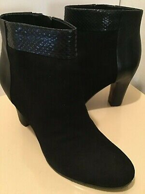 Sam Edelman womens black suede ankle boots size 9 medium