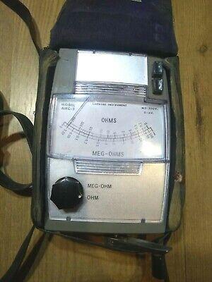 Vintage Amprobe Amc-2 Meg-ohm Insulation Resistance Tester Wcase