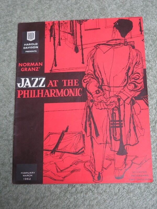 NORMAN GRANZ 1962 UK SOUVENIR TOUR PROGRAMME!