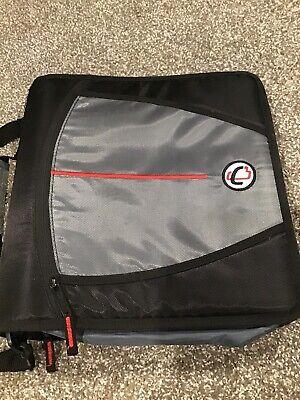 Case It Mighty Zip Tab 3 Ring Blackgray Binder 3 Capacity Handle Strap T641