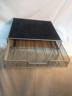 Vintage Wire Basket Industrial Desk 6 Slot Storage Desk Organizer Pen Markers
